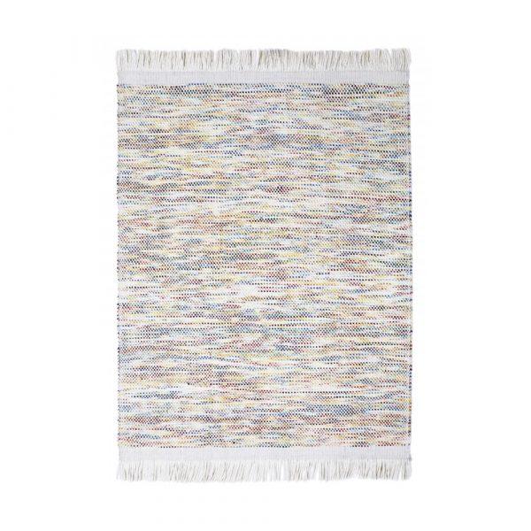 tappeto in lana bianco e multicolor Kulti di Vivaraise