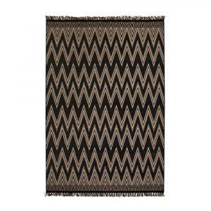 tappeto nero a zig zag chevron stile missoni Lou di Vivaraise