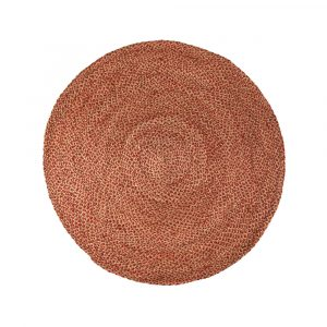 tappeto rotondo Elliot di Vivaraise rosso e juta