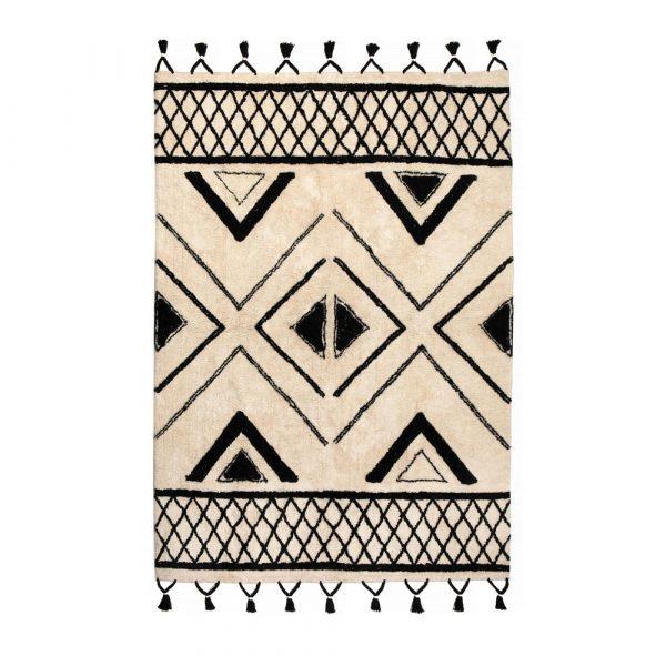 Tappeto etnico bianco e nero Sami di Vivaraise