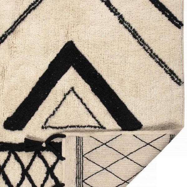 retro Tappeto etnico bianco e nero Sami di Vivaraise