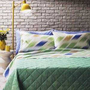 Completo letto matrimoniale Slating di Bassetti verde