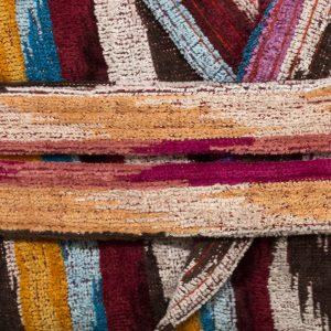 dettaglio accappatoio Multimax di Maè multicolor tipo Missoni