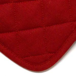 dettaglio presine Essenziale Maison Sucrée rosso