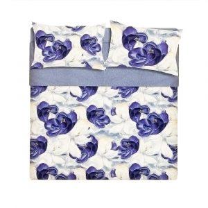 completo lenzuola copriletto Para Ti di Maè con fiori viola