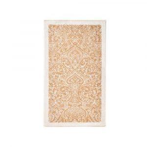 telo da bagno con disegno damascato oro Nabucco di Granfoulard Bassetti