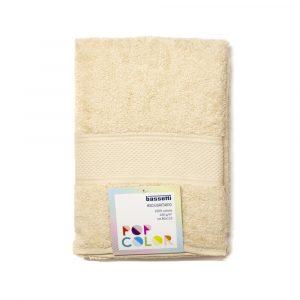 asciugamano con ospite Pop Color Bassetti crema