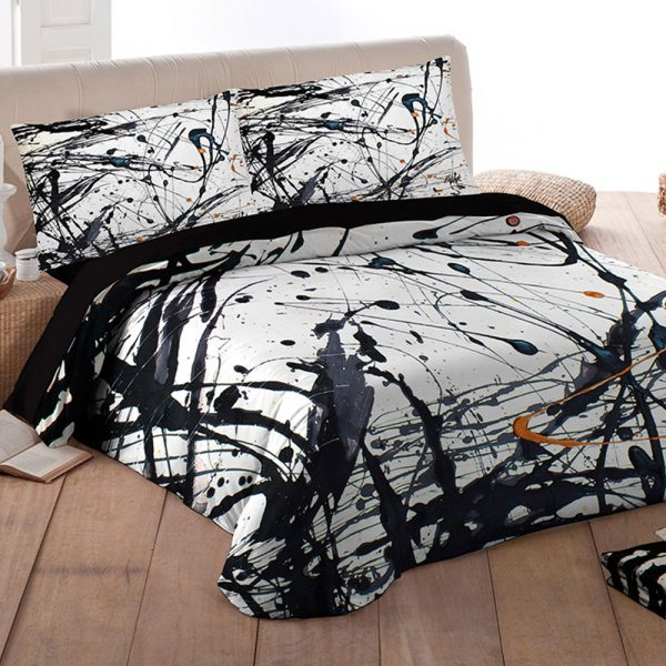 Lenzuola Pollock Art Creative Background di Tessitura Randi