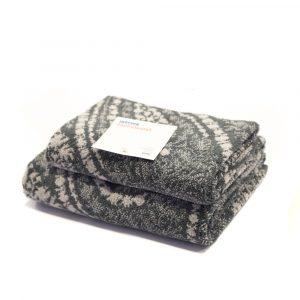 asciugamano con ospite grigio Granfoulard Bassetti