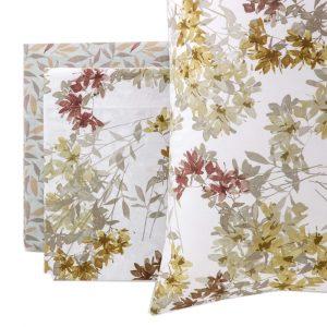 completo letto floreale Flora di Riviera colori autunnali