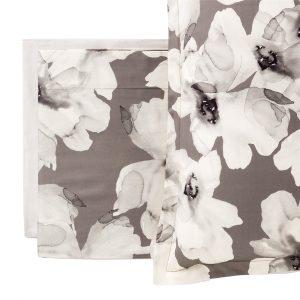 completo letto Peonia Reever matrimoniale grigio ghiaccio fiori moderni