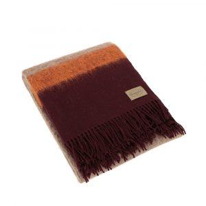 dettaglio plaid in lana moderno Cosmo di Somma bordeaux e arancione